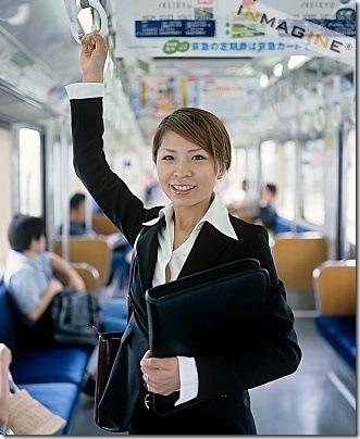 commuting woman