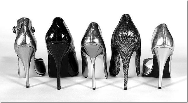 stilettos silver black